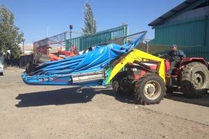 Frontal para cosechadora de nueces