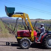 Cargadora frontal para tractor
